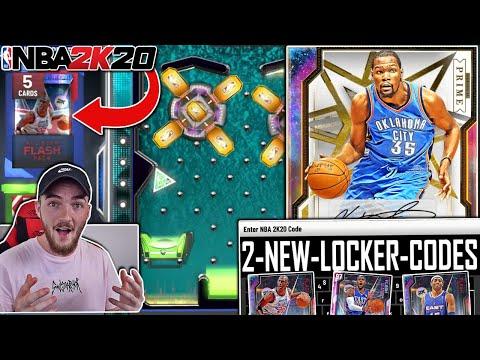 2 *FREE* NEW LOCKER CODES 2K20 + GALAXY OPAL KEVIN DURANT TRIPLE THREAT GAMEPLAY! (NBA 2K20 MYTEAM)