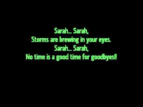 Jefferson Starship~Sarah lyrics