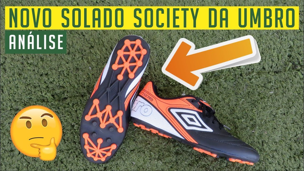 NOVO SOLADO SOCIETY DA UMBRO! - CHUTEIRA UMBRO ATTAK PRO SOCIETY ... cd9991efba1de