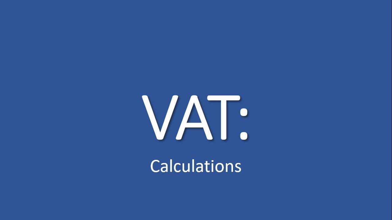 Download VAT - Calculations