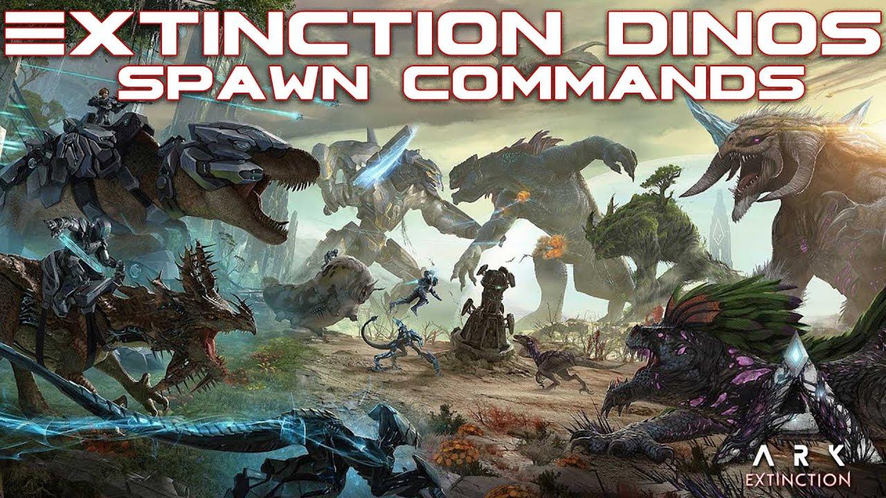 All ARK Extinction Unique Creatures SPAWN Commands - PC, Xbox, PS4