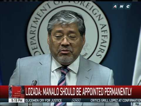 Duterte appoints Enrique Manalo as acting DFA secretary