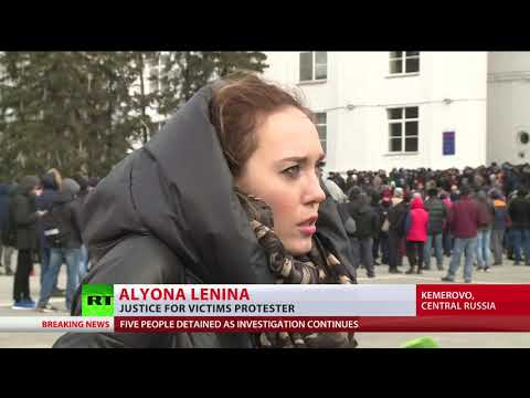Anger mounting in Kemerovo as thousands call for justice, resignation of regional govt