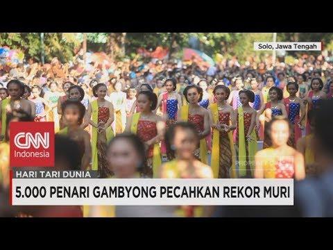 5.000 Penari Gambyong Pecahkan Rekor MURI