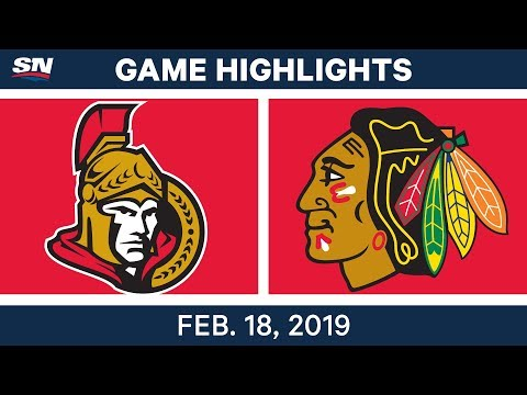 NHL Highlights | Senators vs. Blackhawks - Feb 18, 2019