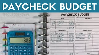 Paycheck Budget   Multiple Income Source Paycheck to Paycheck Budgeting January 2020