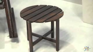 Torched Round Side Table - Product Review Video