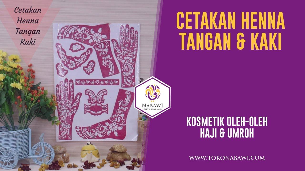 Cetakan Henna Kaki Dan Tangan Souvenir Oleh Oleh Haji Dan Umroh