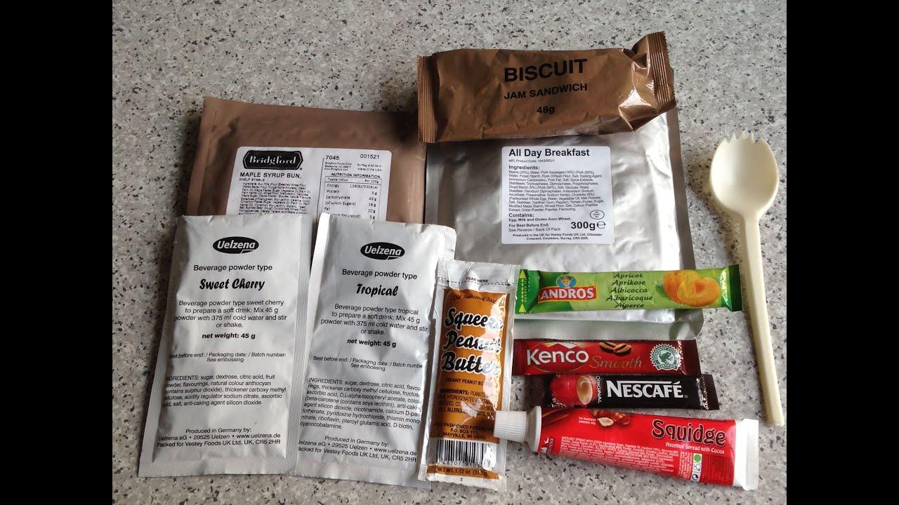MRE Review: British 24 Hour Ration Pack Menu #4 Part 2: Breakfast ...