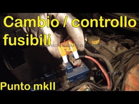 Schema Elettrico Alzacristalli Fiat Grande Punto : Controllo e sostituzione fusibili auto fiat punto mk2 youtube