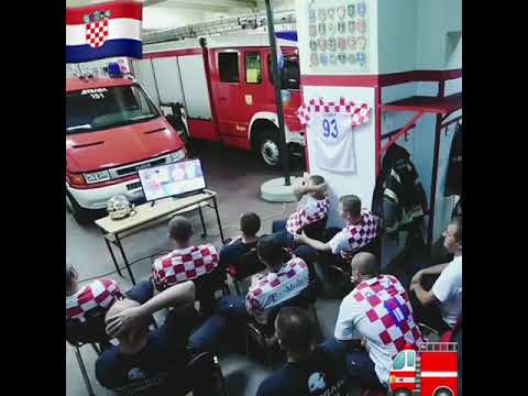 Croatia AMAZING Firefighters Can't Watch last Penalty
