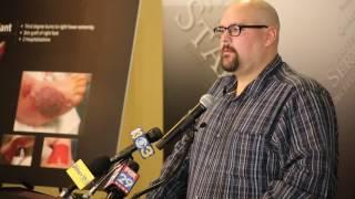 Victim of exploding e-cigarette speaks out