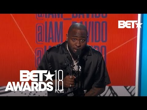 Davido Wins 2018 BET Best International Act Award (Watch The Video)
