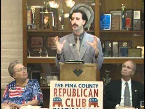Borat visits the Pima County Republican club.