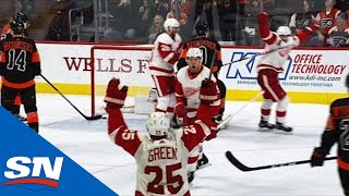 Red Wings Mount Four Goal Third Period Comeback Against Flyers