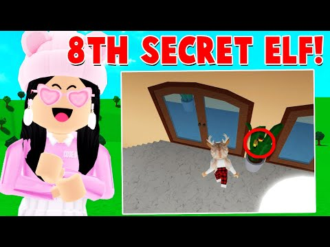 Searching For The 8th SECRET ELF Location In Bloxburg! (Roblox)