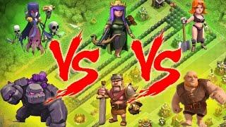 Mini Game COC Lucu - Balap Cewek Vs Cowok - Clash Of CLans Indonesia