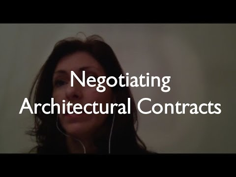 Negotiating Architect Contracts