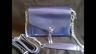 Синяя кожаная сумка 2095 Blue. Магазин сумок Boutique