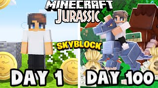 I Spent 100 Days in Minecraft JURASSIC SKYBLOCK... Here's What Happened