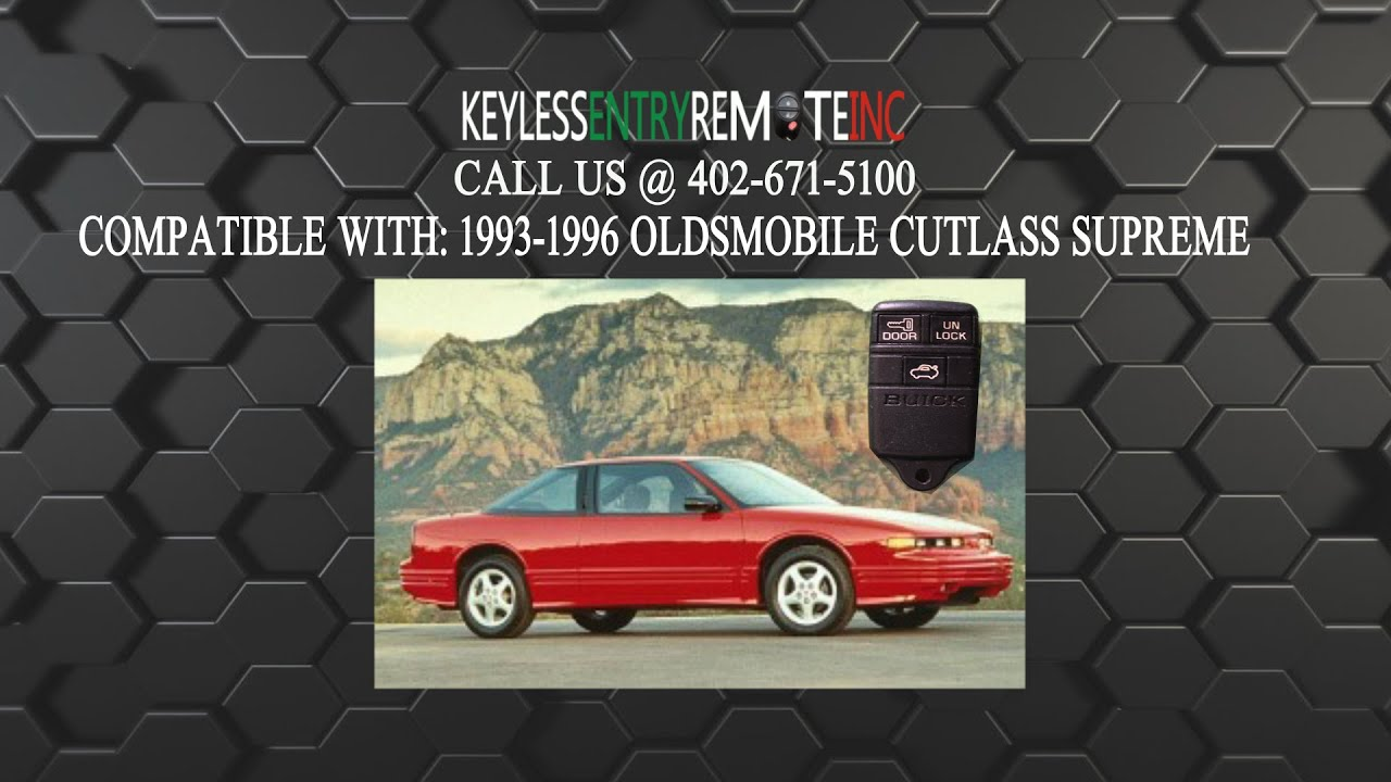 How To Replace Oldsmobile Cutl Supreme Key Fob Battery 1993 1994 1995  Oldsmobile Cutl Fuse Box on