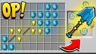 HOW TO CRAFT A $1,000,000 RAINBOW SHOVEL! OVERPOWERED (Minecraft 1.13 Crafting Recipe) 5x5 Crafting