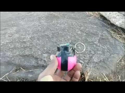 Home made hand grenade (fire work)