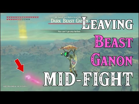 Leaving Beast Ganon MIDFIGHT! ..too epic for the internet to watch.. in Zelda Breath of the Wild