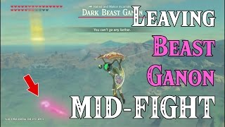 Leaving Beast Ganon MID-FIGHT! ..too epic for the internet to watch.. in Zelda Breath of the Wild