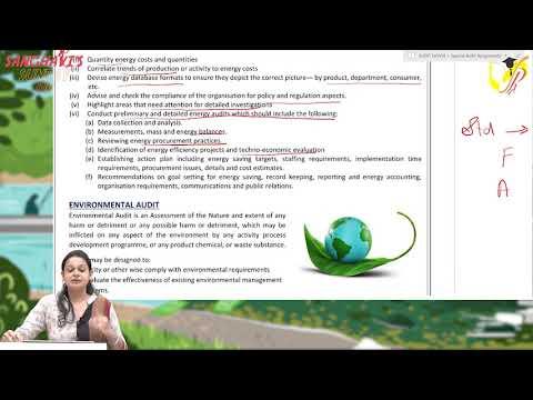 #SanghavisSunday 16 Environment and Energy Audit - CA Final Audit by Prof. Khushboo Sanghavi