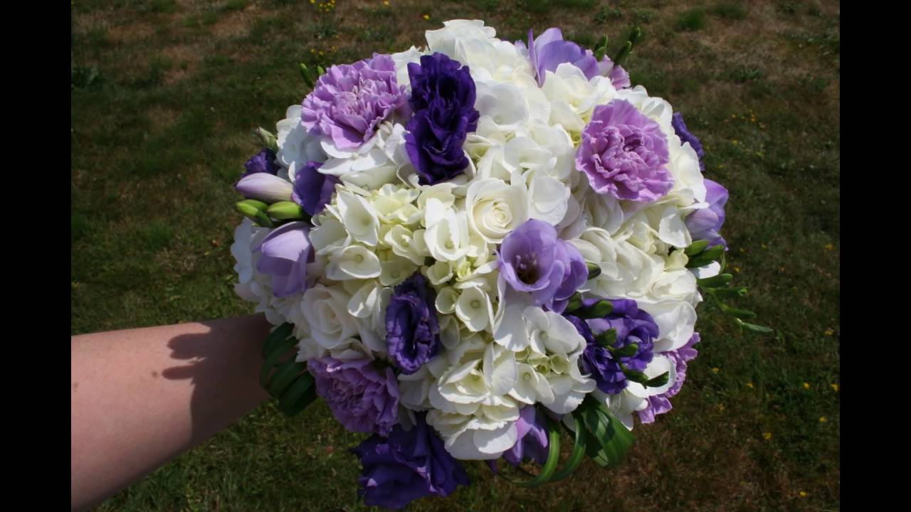 Simple White Hydrangea And Lisianthus Bouquet Youtube