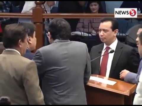Manny Pacquiao referees fight in Philippine Senate of Ex Army Officer vs Arnis Champion