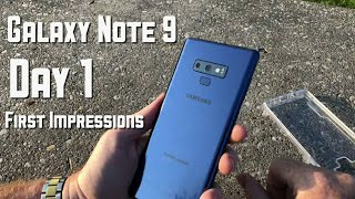 Galaxy Note 9 Day 1 First Impressions