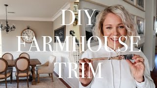 DIY Farmhouse Trim | Alternative to Crown Moulding