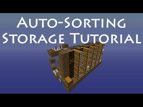 Minecraft Tutorial Automatic Hopper Sorting System Doovi