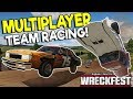INSANE MULTIPLAYER TEAM RACING & HUGE CRASHES! - Next Car Game: Wreckfest Gameplay w/ Spycakes & OB!