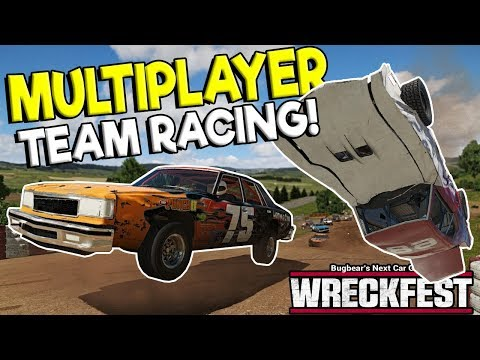 INSANE MULTIPLAYER TEAM RACING & HUGE CRASHES! - Next Car Game: Wreckfest Gameplay w/ Spycakes & OB! |