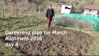 Gardening plans for March - Allotment 2016 day 4
