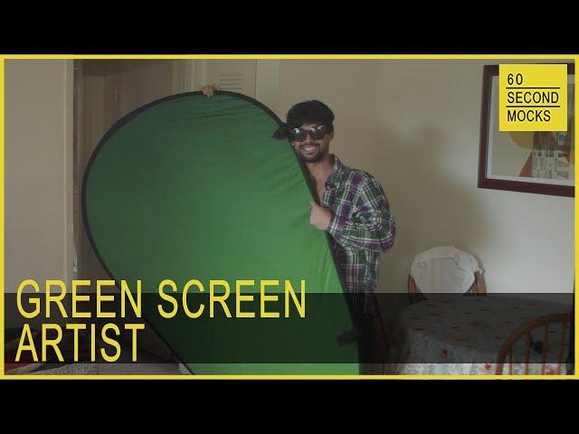 Green Screen Artist // 60 Second Mocks // Mini-Mocks Original One Minute Documentary