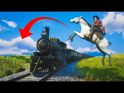 CRAZY HORSE STUNTS & FAILS! - (Red Dead Redemption 2 Funny Moments)