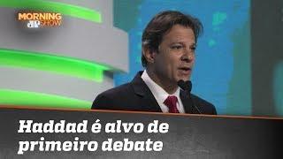 Primeiro debate de presidenciáveis com Haddad tem o petista como alvo
