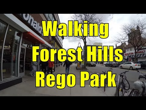 ⁴ᴷ Walking Tour of Queens, NYC - Forest Hills & Rego Park (Austin St, 63rd Drive, Queens Center)