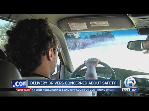 Delivery drivers concerned about safety
