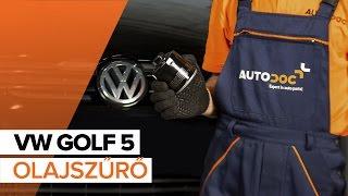 VW GOLF V (1K1) Olajszűrő szerelési: ingyenes videó