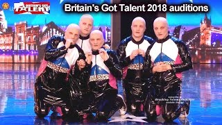 Baba Yega ALIEN LOOKING MASKED DANCERS  Auditions Britain's Got Talent 2018 BGT S12E03