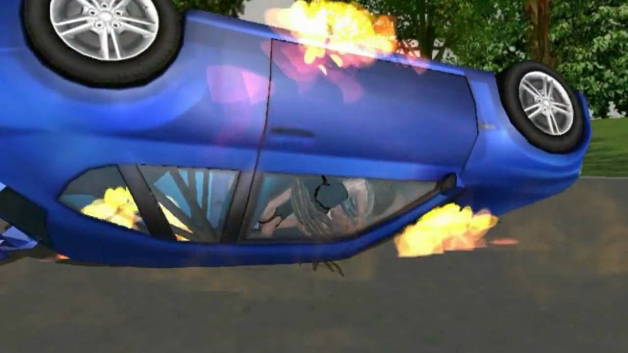 Animated Car Crash and Burn.wmv - YouTube