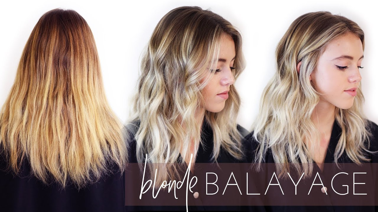 Ashy Blonde Balayage Hair Transformation How To Foilayage Easy Tutorial