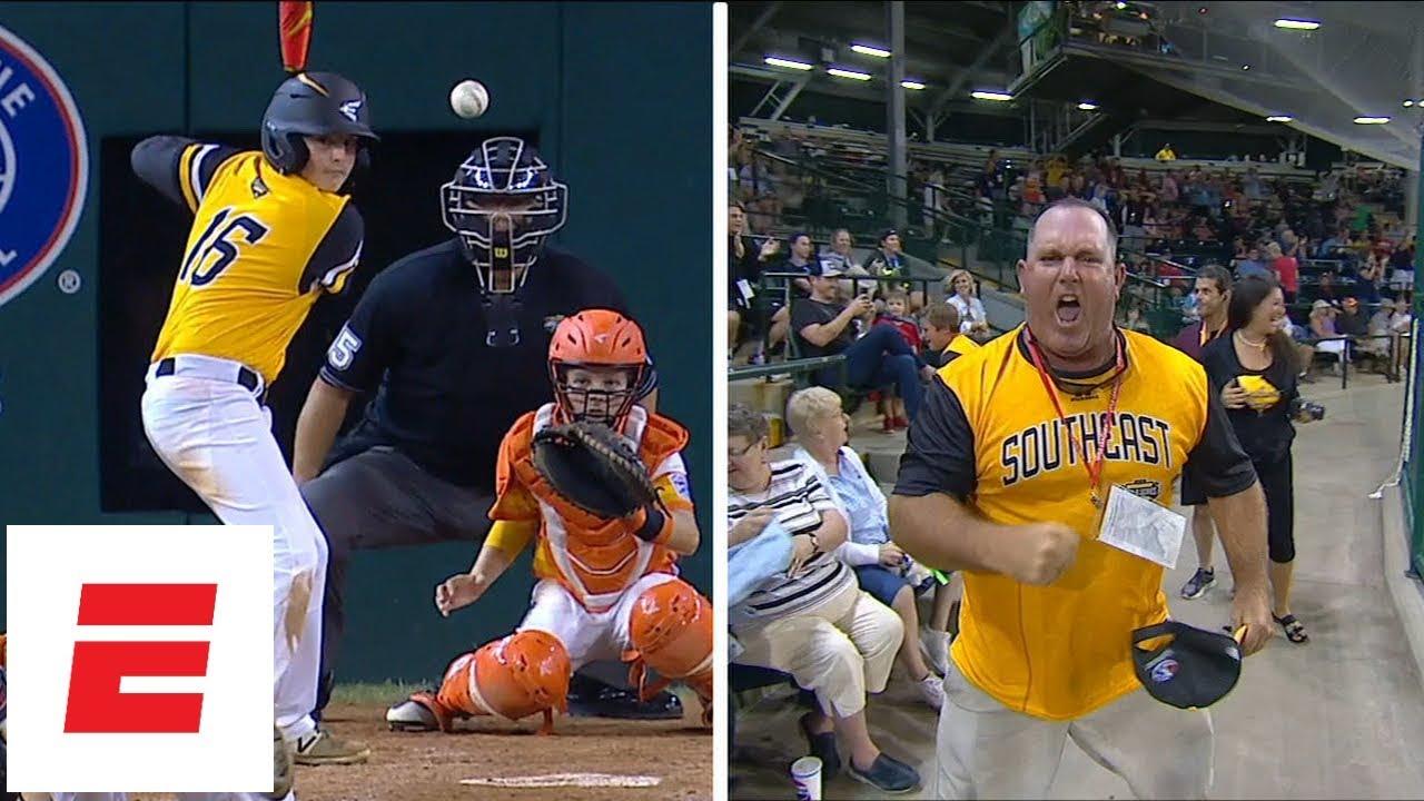 Georgia Little League dad goes crazy for son's game-tying HR   LLWS   ESPN