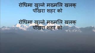 Nepali Karaoke song Choli Ramro Palpali Dhakako karaoke with Nepali lyrics
