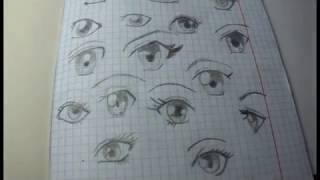как легко нарисовать глаза в стиле аниме. Несколько простых шагов